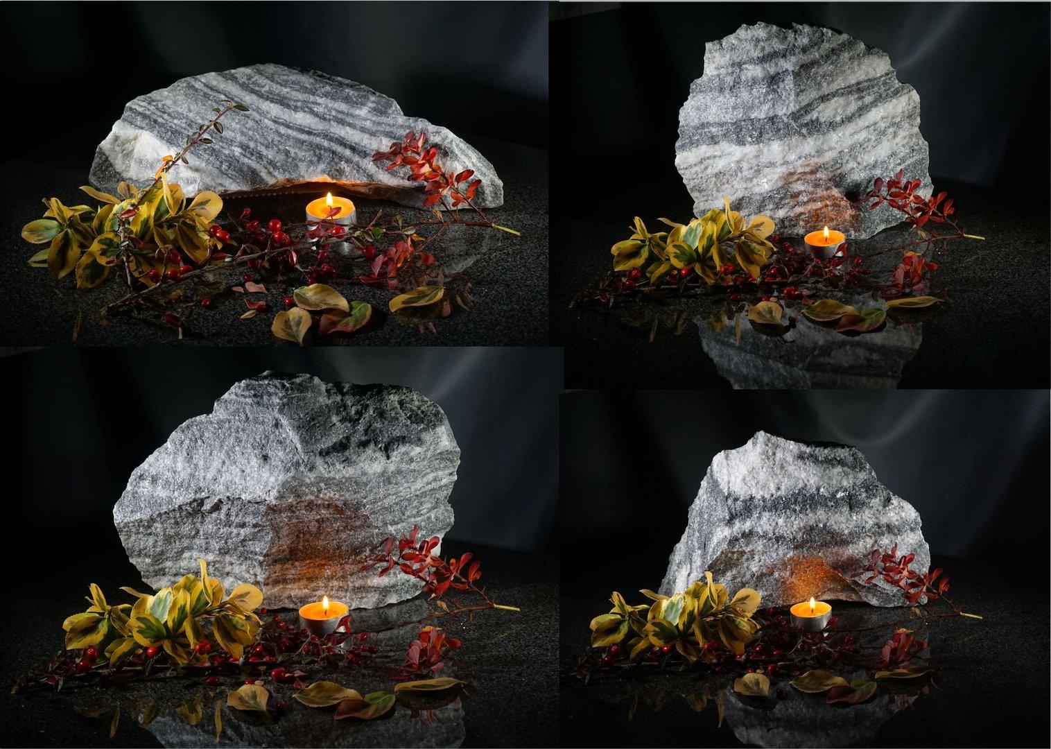 Deko steine aus quarzit for Deko garten steine